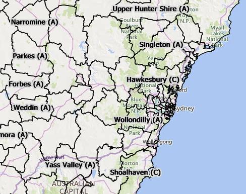 Nsw Lgas Interactive Web Map