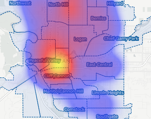 City of Spokane Crime Cluster Map - Interactive Web Map