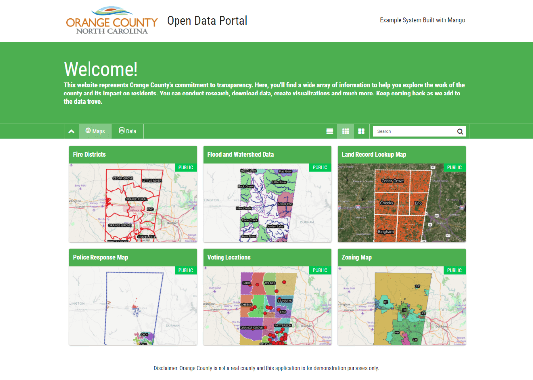 A branded web map portal that maintains consistency across the client's brand