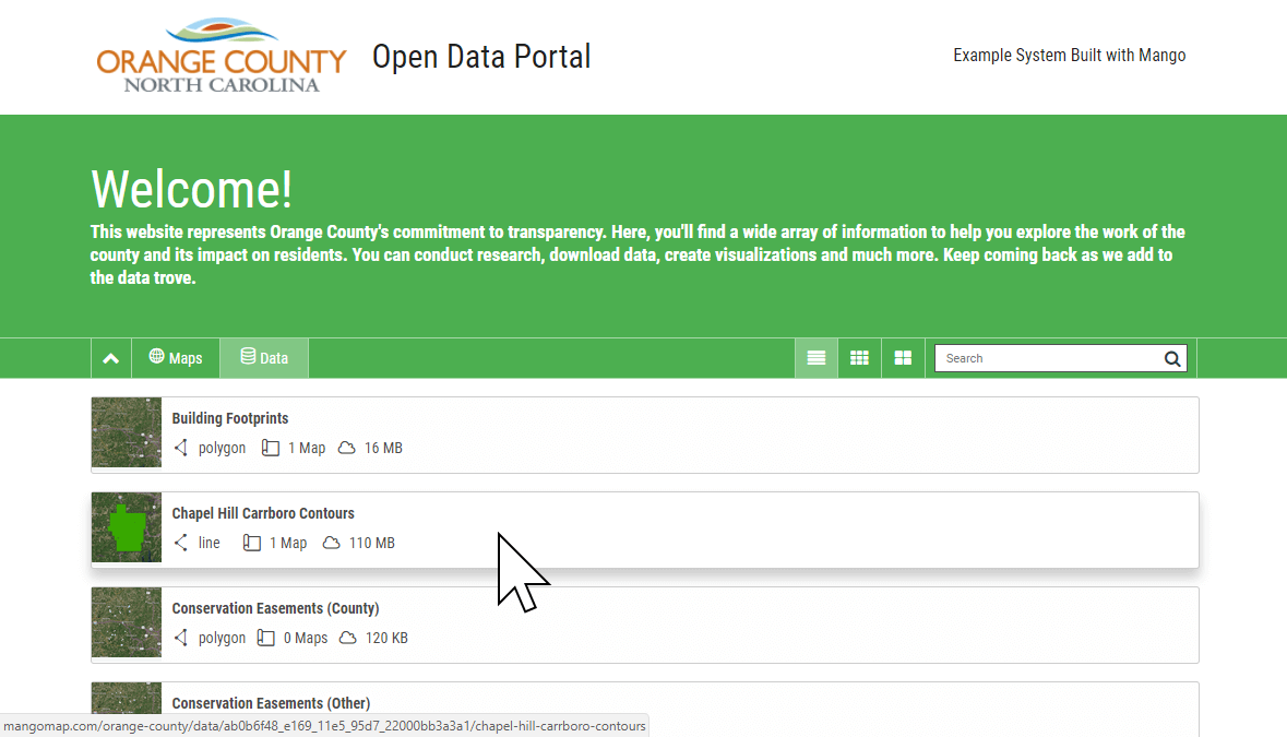 Provide a simple, accessible open data portal for your community