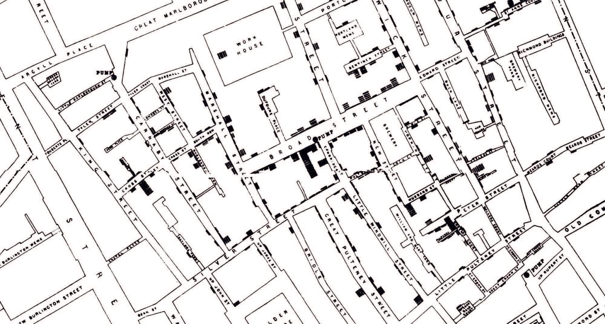 John Snow's cholera map - a revolution for data visualization on maps