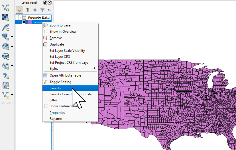 Exporting a joined dataset to Shapefile in QGIS